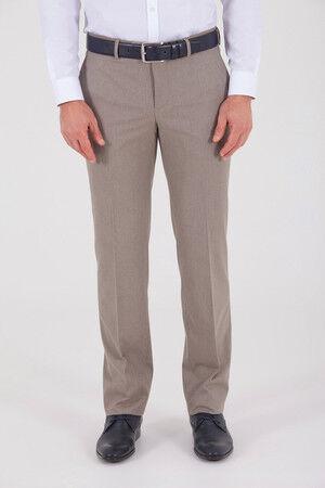 Bej Slim Fit Kumaş Pantolon