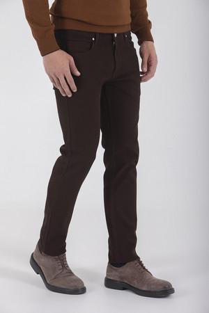Kahverengi Slim Fit Spor Pantolon - Thumbnail