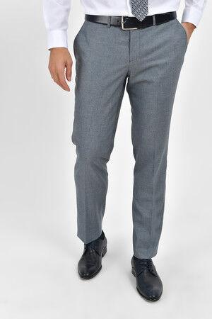 Desenli Slim Fit Lacivert Pantolon