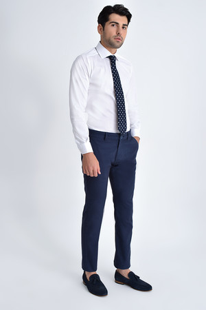 Lacivert Slim Fit Spor Pantolon - Thumbnail