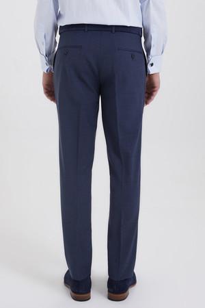 Mavi Desenli Slim Fit Yünlü Kumaş Pantolon - Thumbnail