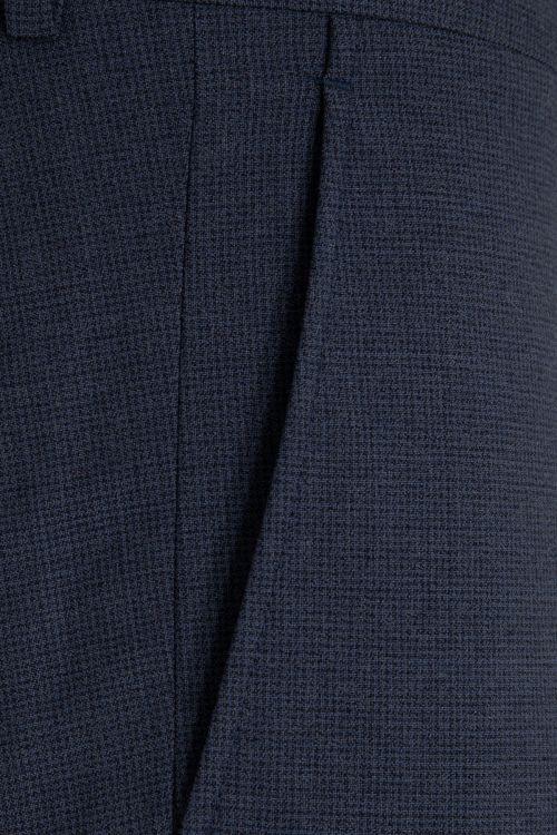 Mavi Desenli Slim Fit Yünlü Kumaş Pantolon