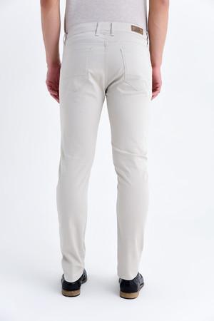 Bej Desenli Slim Fit Pantolon - Thumbnail