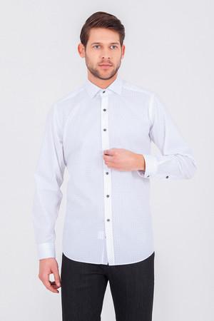 Gri Baskılı Regular Gömlek - Thumbnail