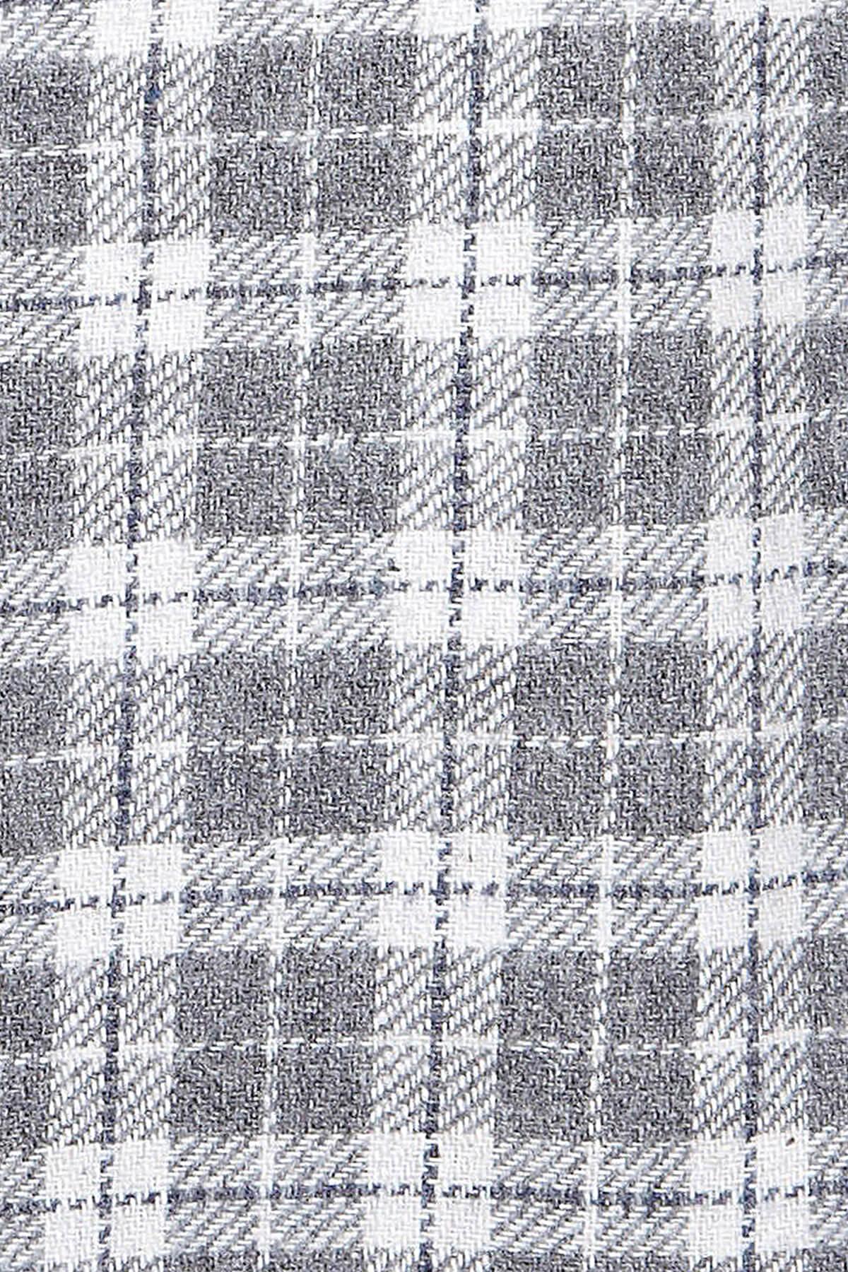 Gri Kareli Oduncu Gömlek - Thumbnail