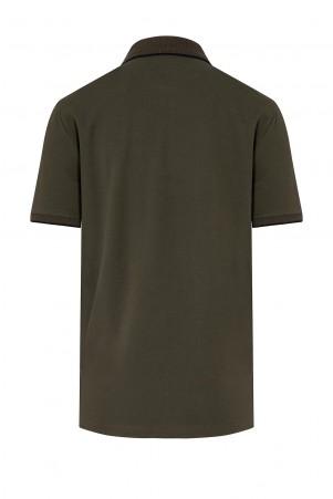 Haki Baskılı Polo Yaka Tişört - Thumbnail
