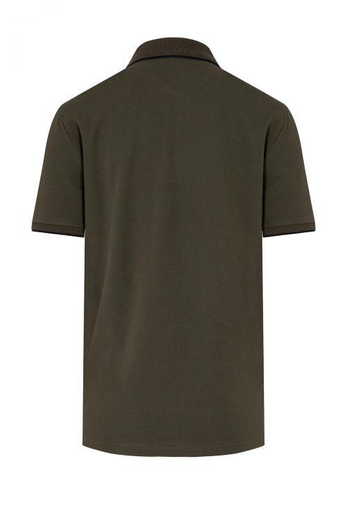 Haki Baskılı Polo Yaka Tişört