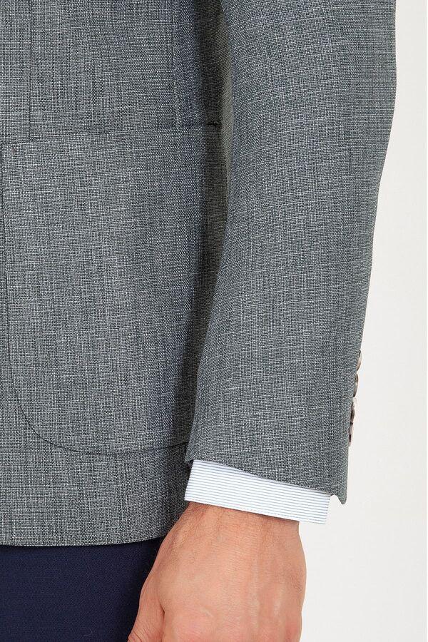 Haki Slim Fit Desenli Ceket