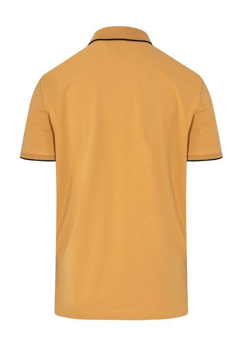 Hardal Baskılı Polo Yaka Tişört