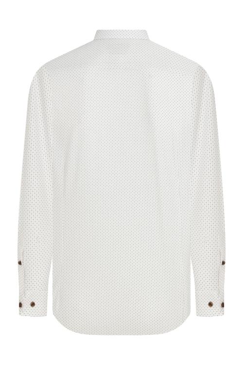 Slim Fit Desenli Beyaz Gömlek