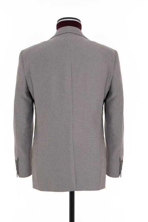 Kahverengi Desenli Slim Fit Ceket