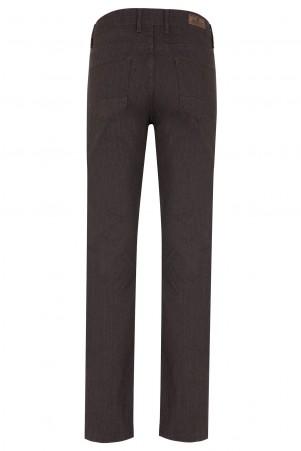 Kahverengi Desenli Klasik Kanvas Pantolon - Thumbnail