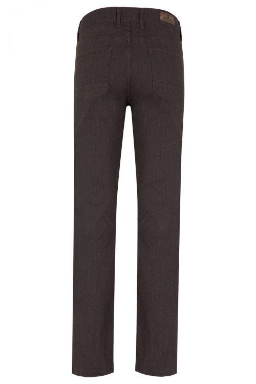 Kahverengi Desenli Klasik Kanvas Pantolon