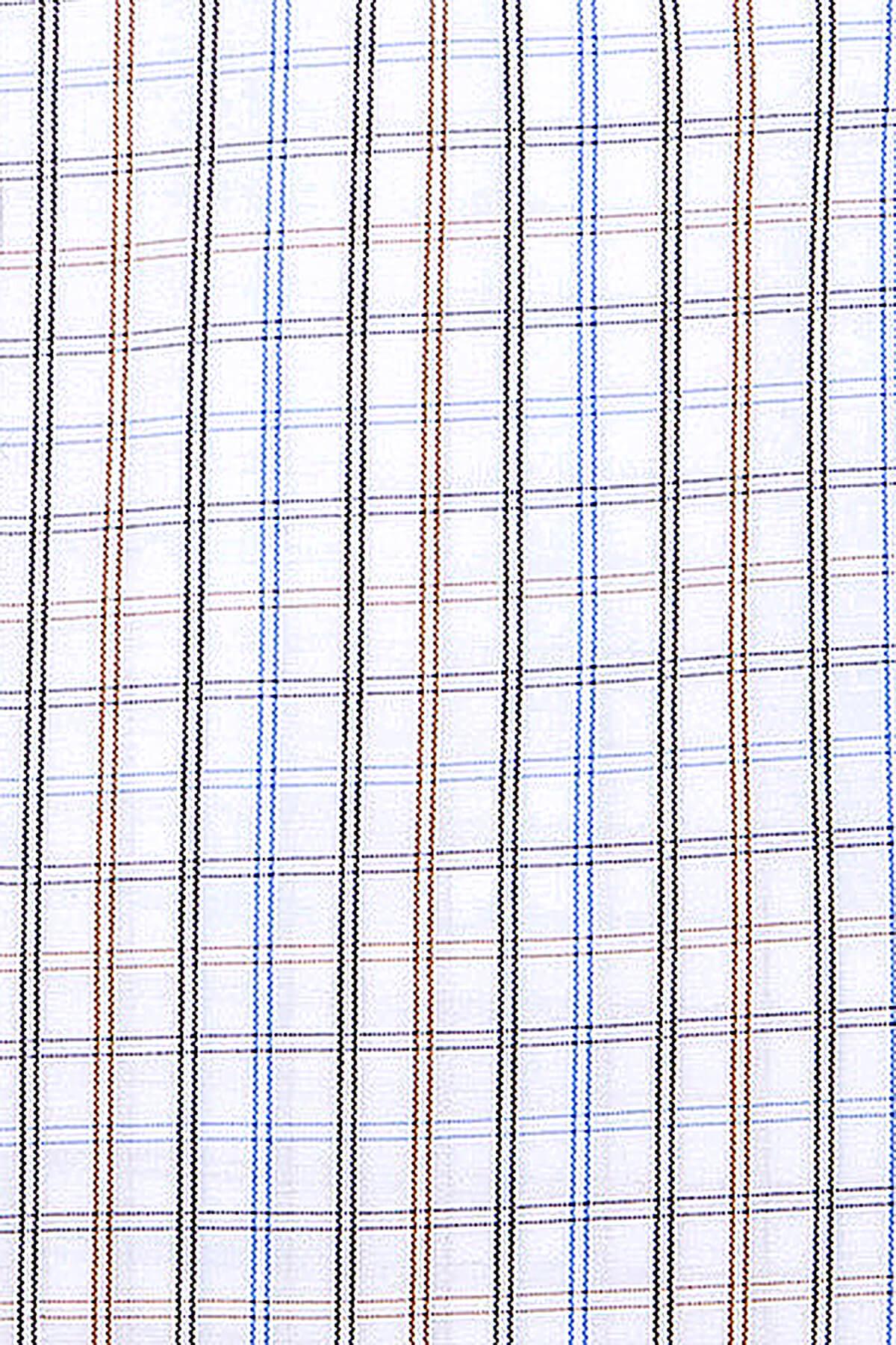 Kahverengi Kareli Klasik Gömlek