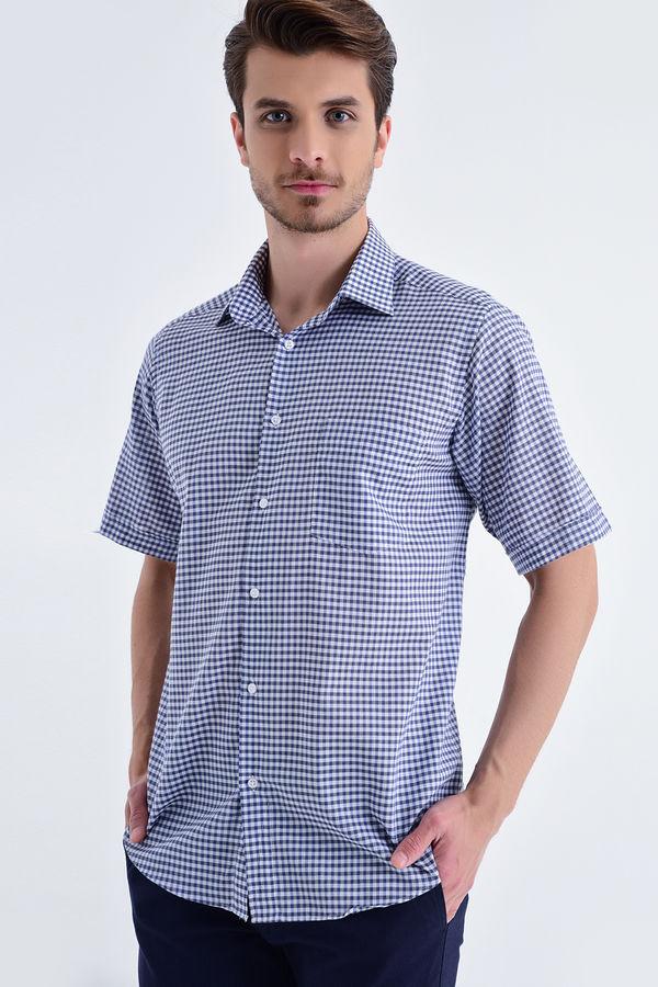 Kareli Klasik Mavi Gömlek