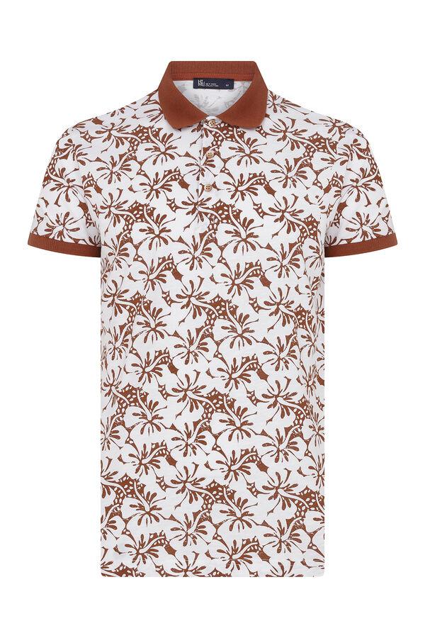 Kiremit Desenli Polo Yaka Tişört