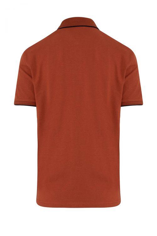 Kiremit Baskılı Polo Yaka Tişört