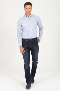 Lacivert Regular Fit Pantolon - Thumbnail