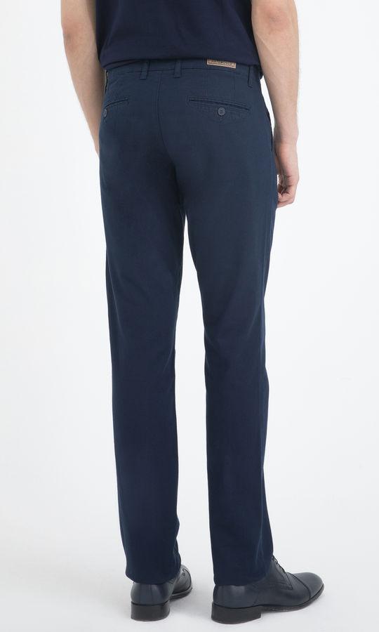Lacivert Desenli Regular Pantolon