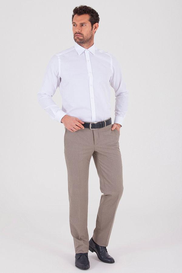 Bej Klasik Fit Kumaş Pantolon