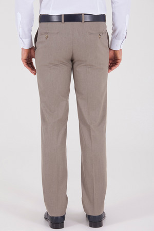 Bej Klasik Fit Kumaş Pantolon - Thumbnail