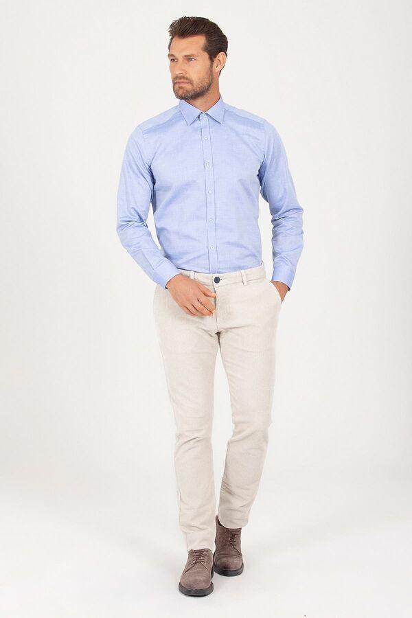 Regular Fit Mavi Gömlek