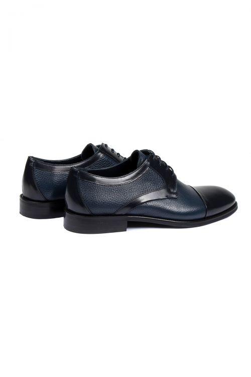 Lacivert Deri Klasik Ayakkabı