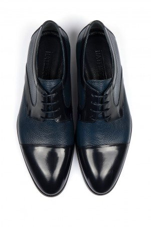 Lacivert Deri Klasik Ayakkabı - Thumbnail
