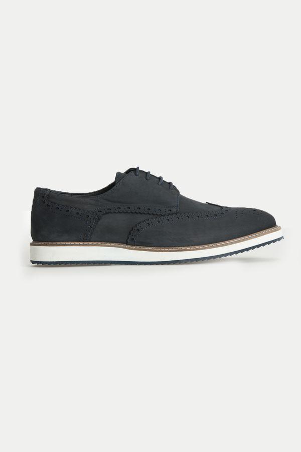 Lacivert Deri Günlük Ayakkabı