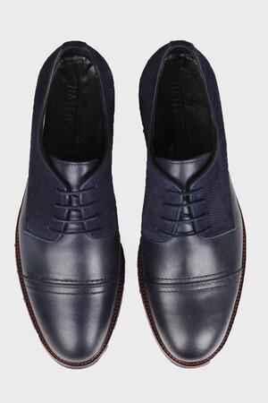 Lacivert Günlük Oxford Ayakkabı - Thumbnail