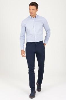 Lacivert Basic Regular Pantolon - Thumbnail
