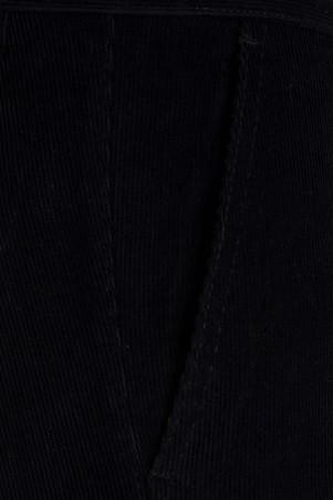 Lacivert Kadife Regular Pantolon - Thumbnail