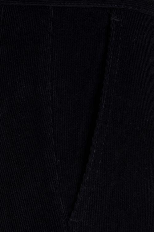 Lacivert Kadife Regular Pantolon