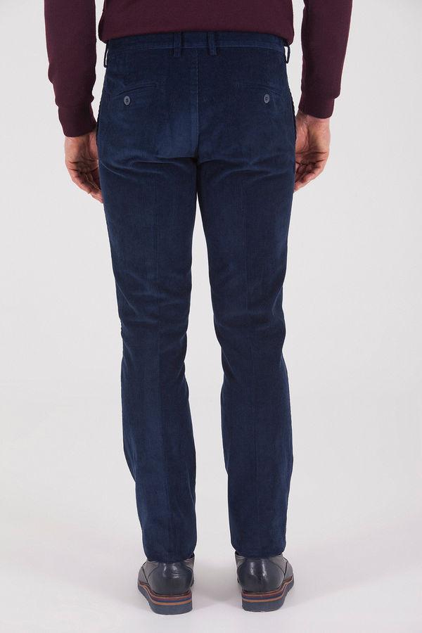 Lacivert Kadife Pantolon