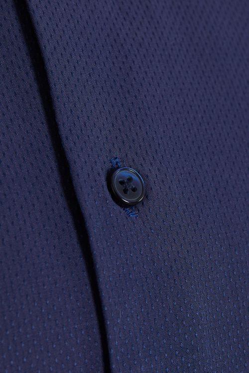 Lacivert Desenli Kısa Kol Gömlek