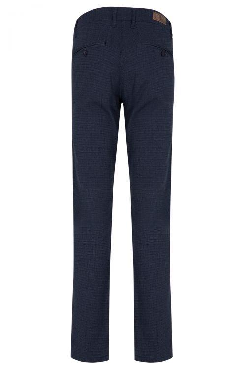 Lacivert Desenli Klasik Kanvas Pantolon