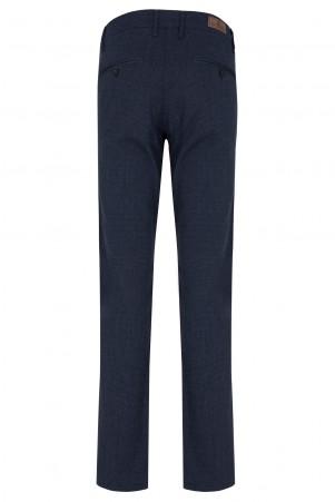 Lacivert Desenli Klasik Kanvas Pantolon - Thumbnail