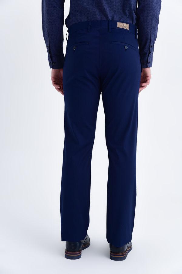 Lacivert Regular Kanvas Pantolon