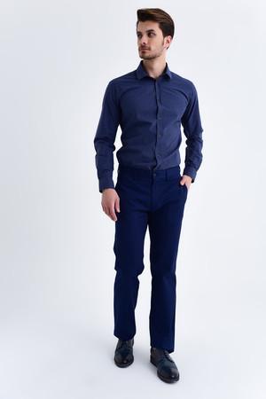 Lacivert Regular Kanvas Pantolon - Thumbnail