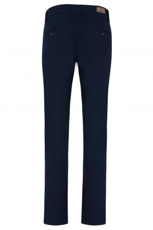 Lacivert Slim Fit Yandan Cep Pantolon - Thumbnail