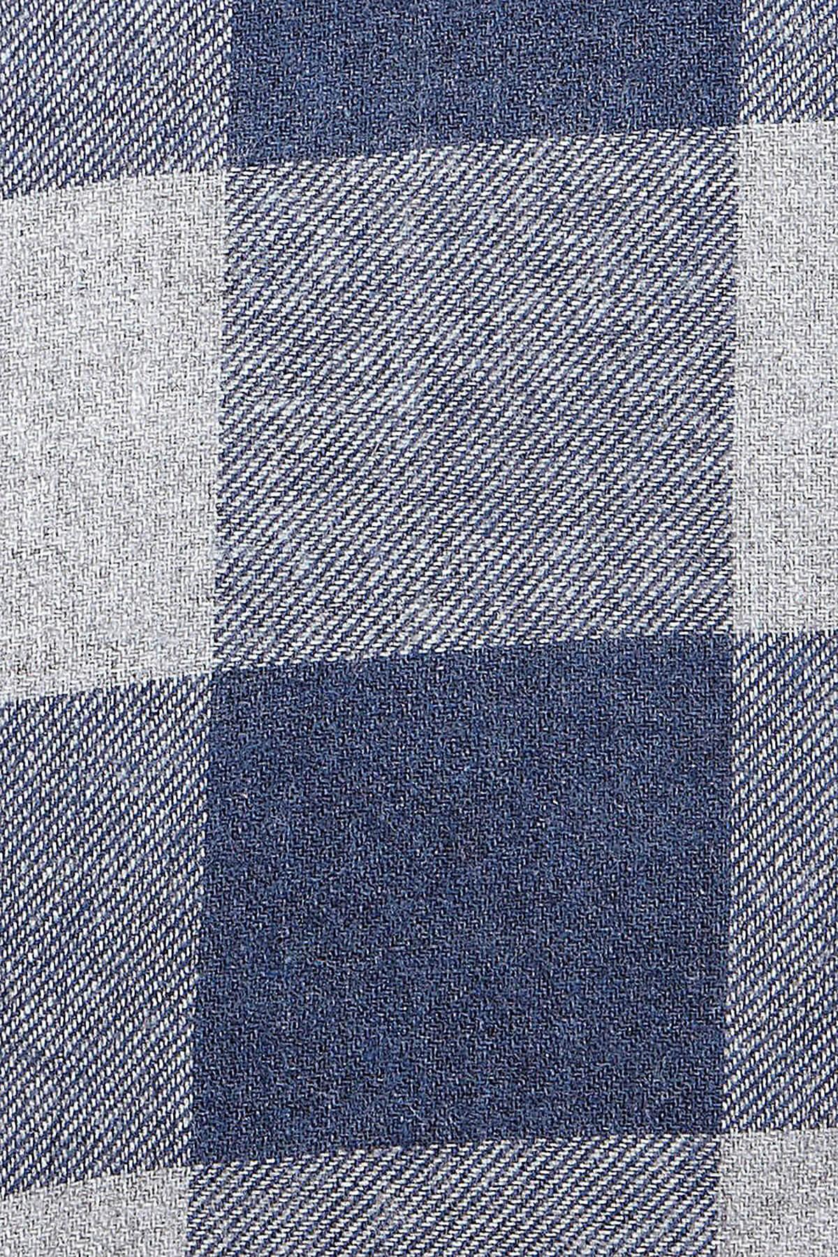 Lacivert Kareli Oduncu Gömlek - Thumbnail