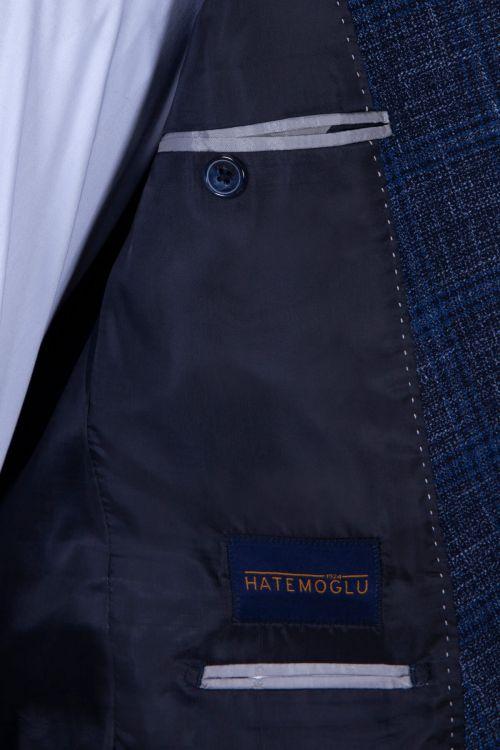 Lacivert Kareli Mix Takım Elbise
