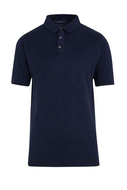 Lacivert Regular Fit Polo Yaka Triko Tişört