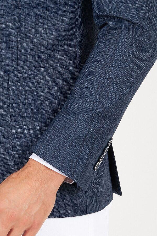 Lacivert Slim Fit Spor Ceket