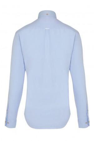 Mavi Slim Fit Uzun Kol Gömlek - Thumbnail
