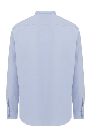 Mavi Armürlü Klasik Gömlek - Thumbnail