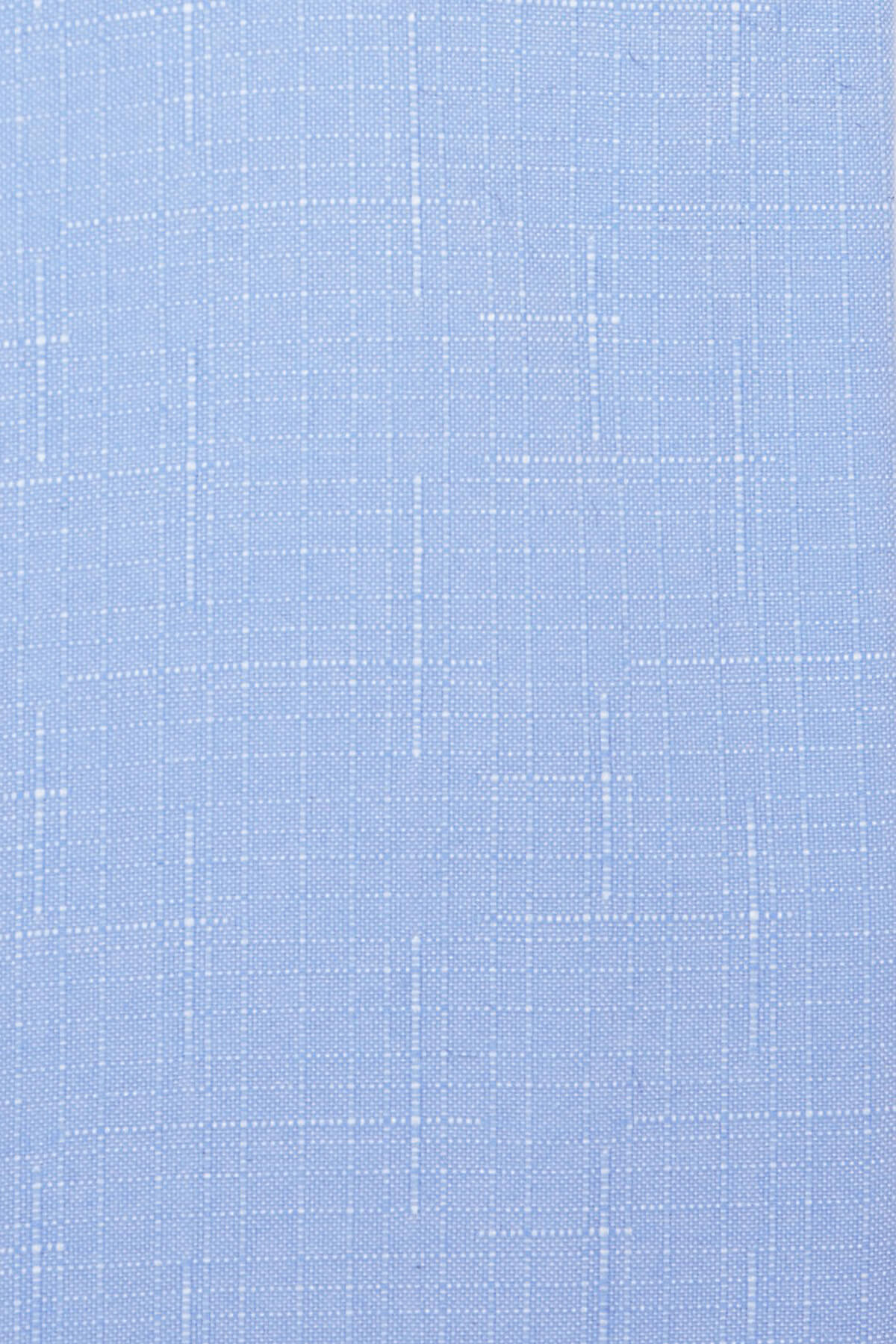 Mavi Desenli Klasik Gömlek - Thumbnail