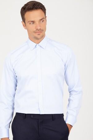 Regular Fit Buz Mavisi Gömlek - Thumbnail