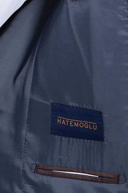 Mavi Kahverengi Kareli Mix Takım Elbise