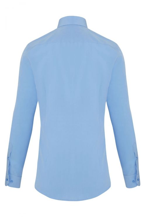 Mavi Slim Fit Uzun Kol Gömlek